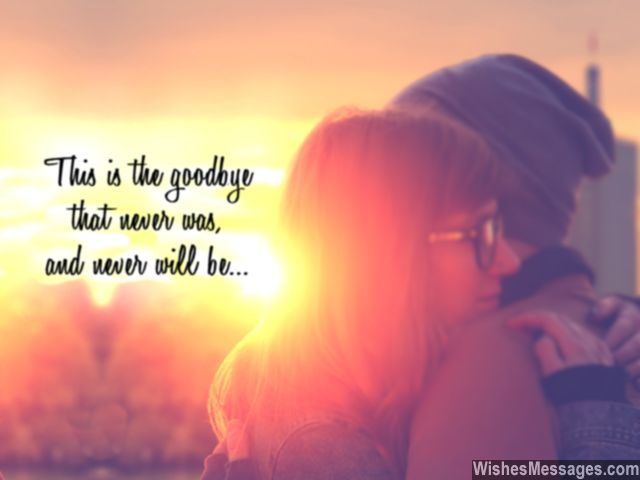 Goodbye Hug Quote Never Was Never Will Be