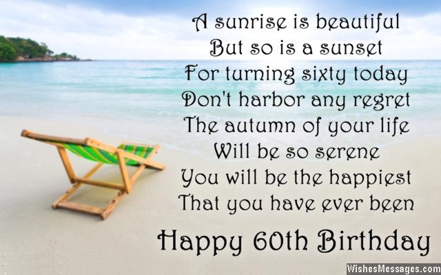 60th Birthday Poems WishesMessages – 60th Birthday Sayings for Cards