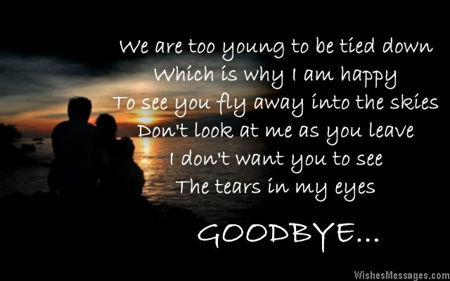Goodbye Messages for Boyfriend: Quotes for Him – WishesMessages.com