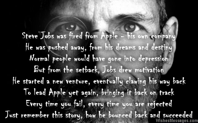 Inspirational poem about Steve Jobs