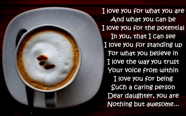 I Love You Poems For Daughter Wishesmessagescom