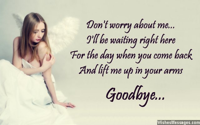 Painful goodbye card message froma girl to a guy