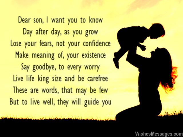Sweet love poem to son from parents to write on a greeting card