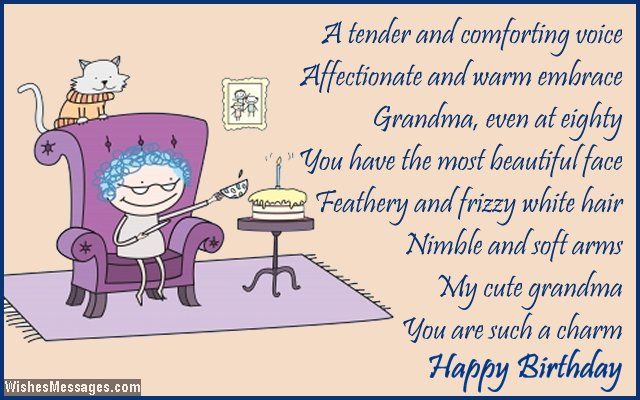 80th birthday card poem for grandmother