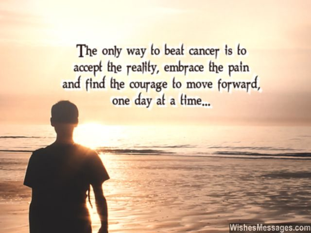Accept reality of cancer quote inspiration to embrace pain
