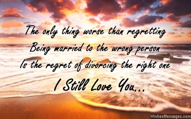 Beautiful quote about love, marriage and divorce