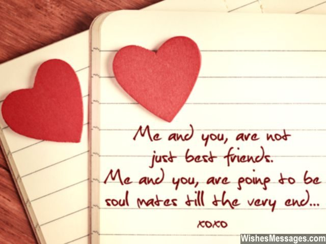 Cute message for best friends we are soul mates note