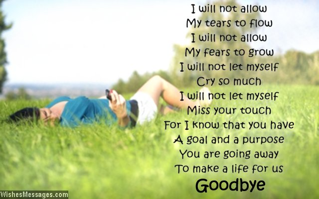 Goodbye poem for love