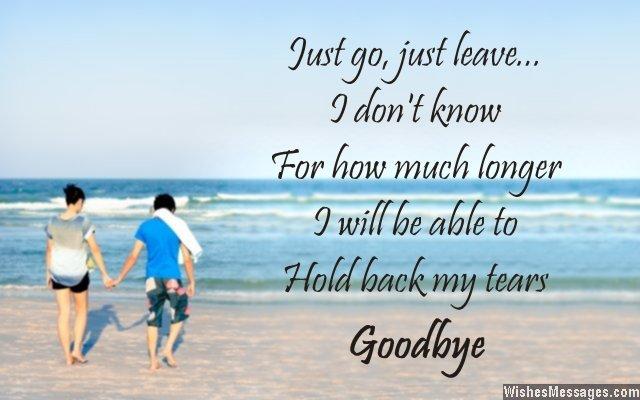 Heartbreaking goodbye message from boyfriend to girlfriend