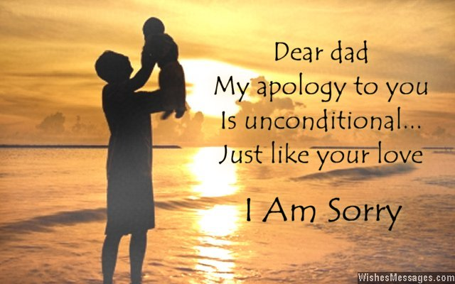 I am sorry quote to dad from son