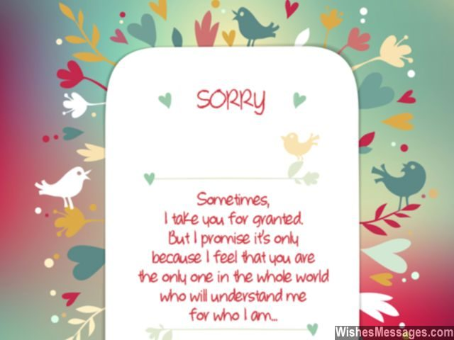 I Am Sorry Quotes Friendship Apology To Best Friend Taken For Granted  Apology Card Messages