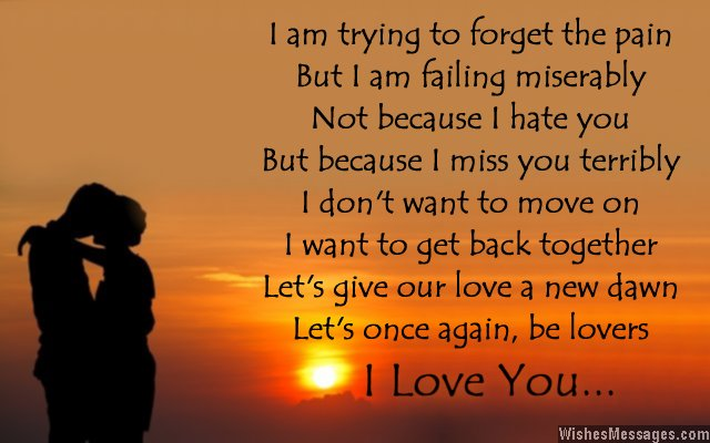 I love you poem for ex-girlfriend