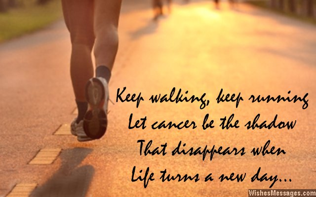 Inspirational message for cancer patients