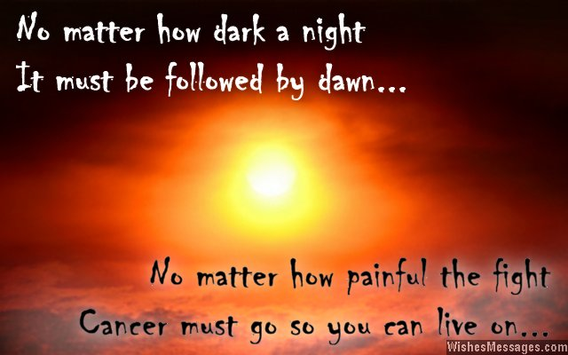 Inspirational quote for cancer patients