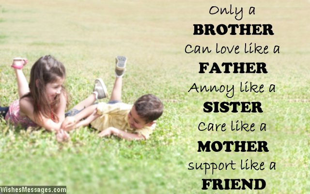 Lovely quote about brothers and sisters