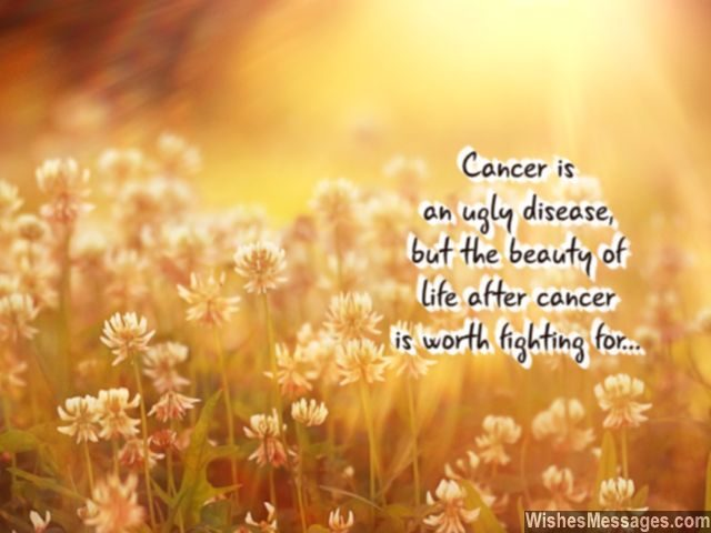 Motivation to fight cancer beauty of life after recovery