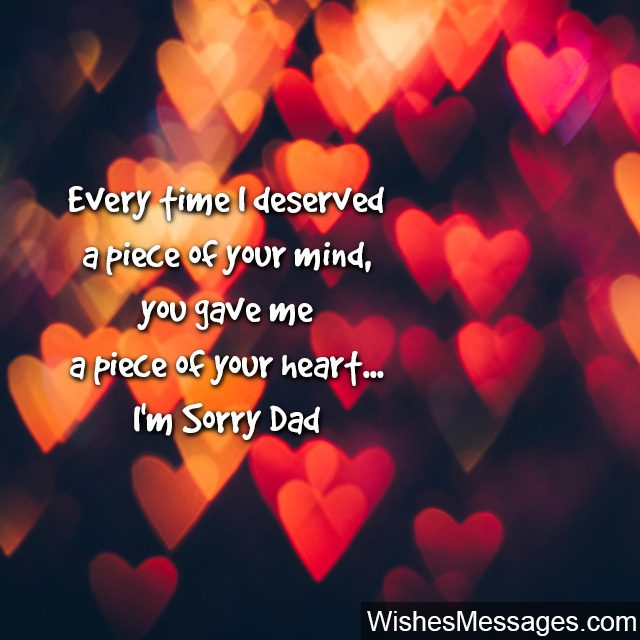 I Am Sorry Messages for Dad Apology Quotes WishesMessagescom