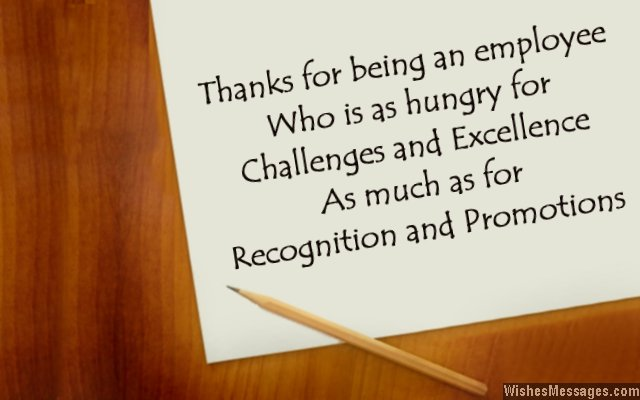 Thank you messages for employees: Thank you notes to show ...