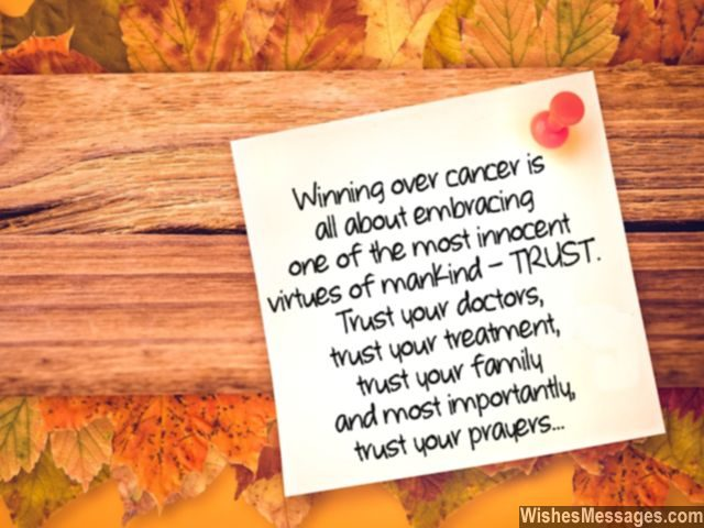 Trust doctors family prayers quote for cancer patients motivation