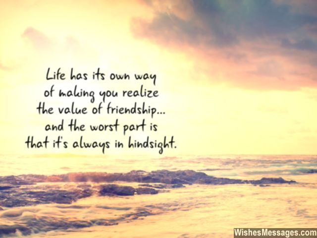 Value of friendship in life quote
