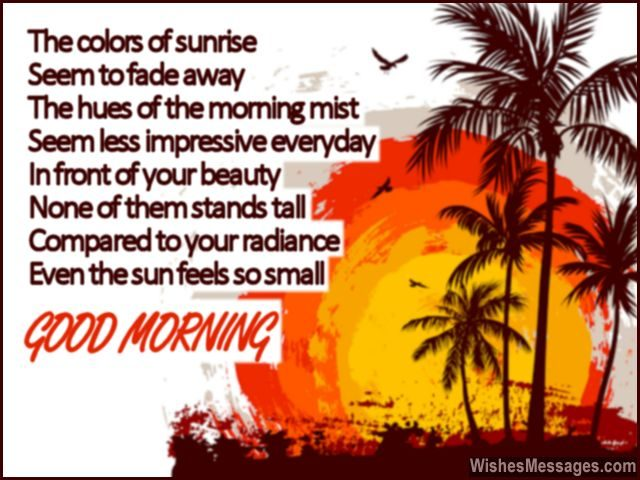 Beautiful poem to wish girlfriend good morning