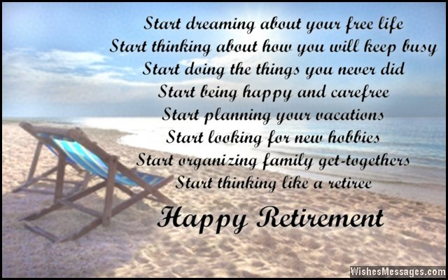 Beautiful retirement card wishes