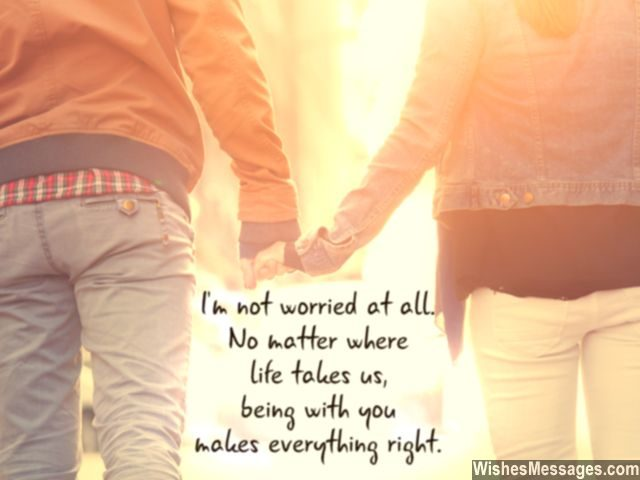 Being with you makes everything right sweet quote for couples