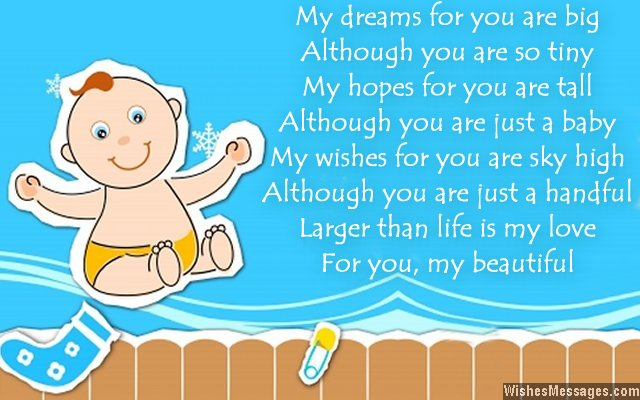 Cute Birthday Card Poem For Baby