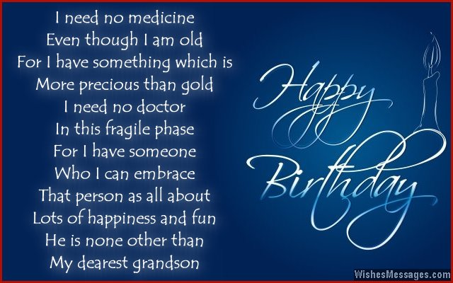 birthday poems for grandson  wishesmessages, Birthday card