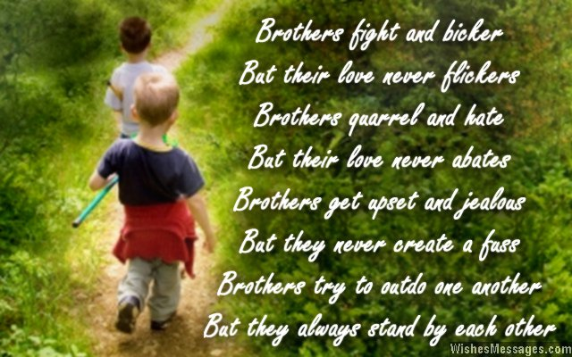 Cute poem about brothers