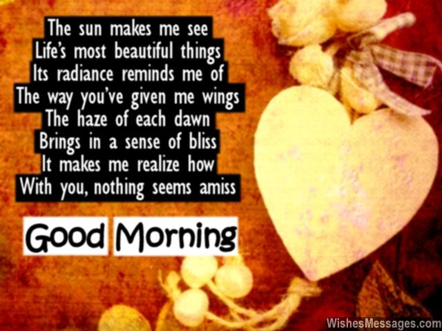 Cute poem to say good morning to girlfriend