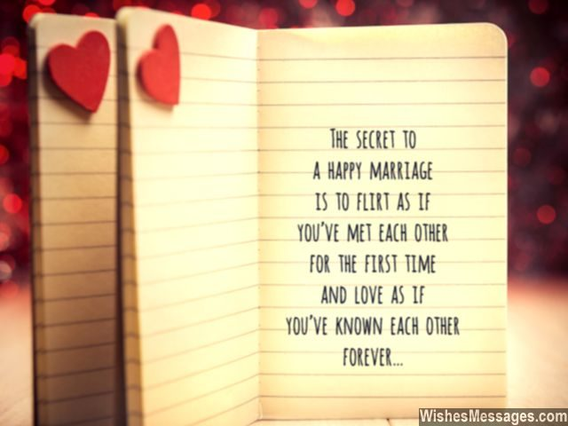 Happy marriage secret quote flirting love between husband wife