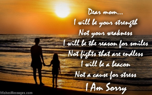 I Am Sorry Messages For Mom Wishesmessagescom
