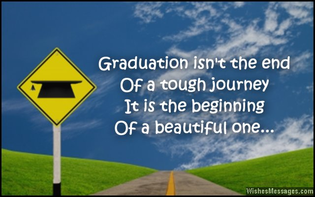Inspirational graduation message