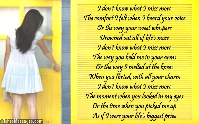 Missing you poem for ex-boyfriend
