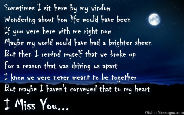 I miss you poems for ex-boyfriend – WishesMessages.com