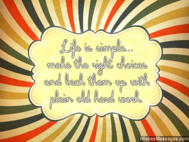 Motivational quote for students making right choices in life