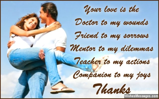 Thanks Baby. Romantic Love Quote For Husband And Wife