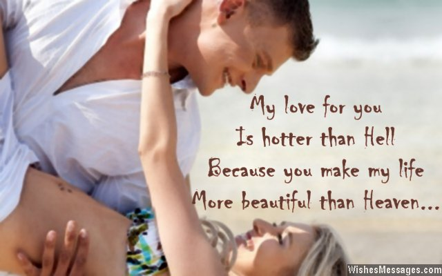 Romantic love quote to husband from wife