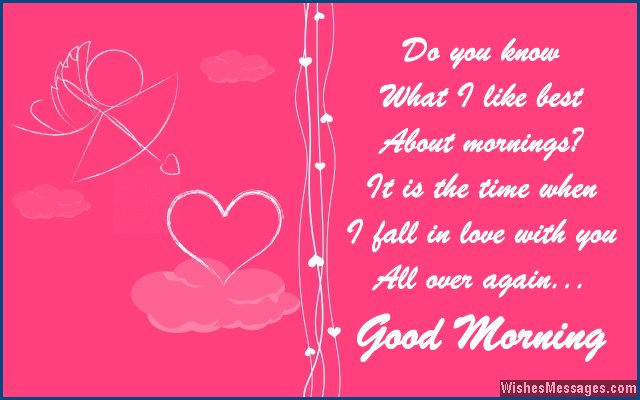 Good morning messages for wife | WishesMessages.com