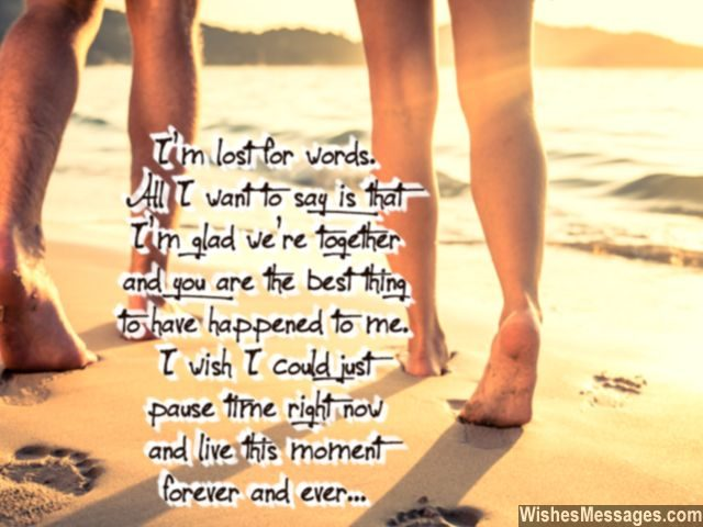 You are the best thing happen to me love forever quote for couples