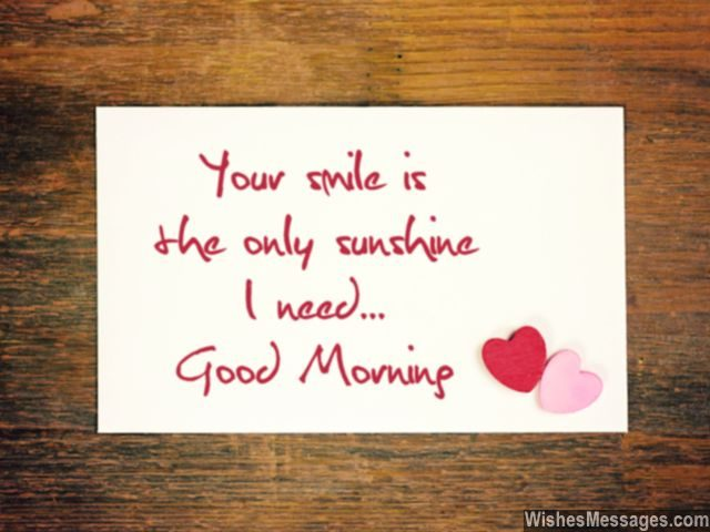 Your Smile Is My Sunshine Good Morning Quote For Him And Her
