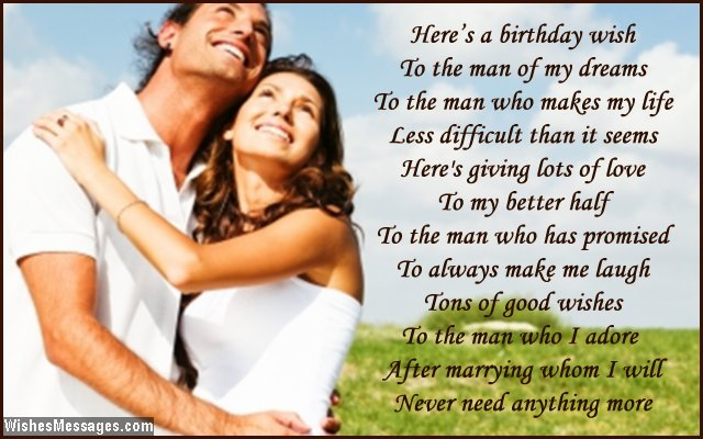 Beautiful birthday message to fiance from fiancee