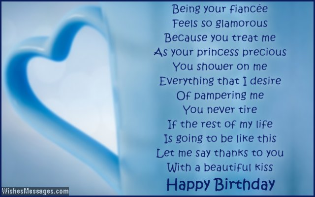 Birthday poems for fiance wishesmessages cute birthday greeting for husband to be 21 being your fiance m4hsunfo