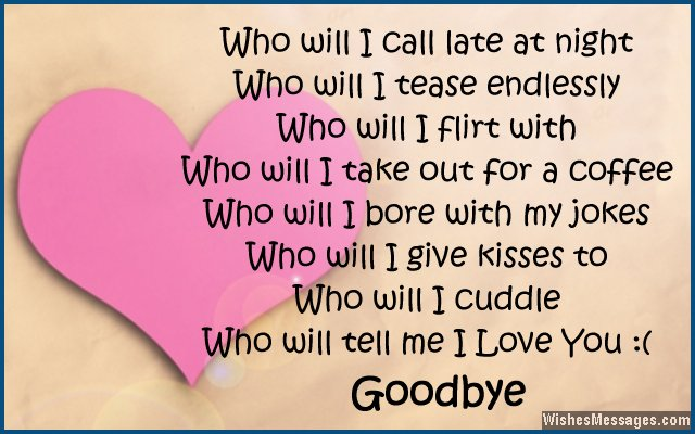 Goodbye poems for girlfriend – WishesMessages.com