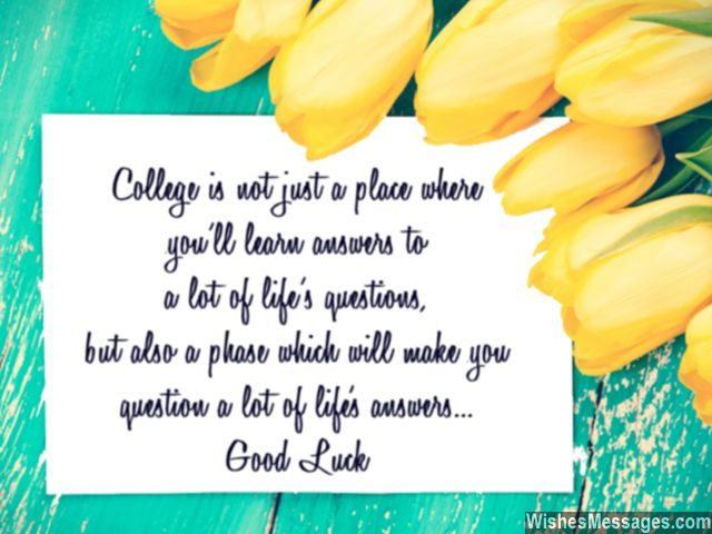 Leaving for college quotes good luck messages and notes good luck for college note for students find life answers sciox Image collections