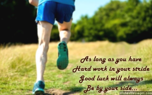Good luck greeting card message
