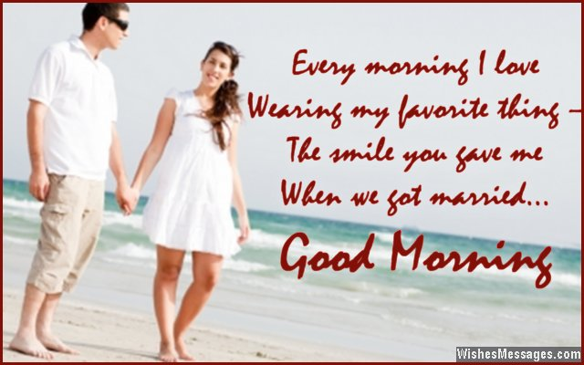 Romantic good morning wish for husband