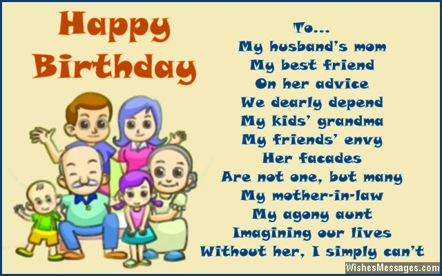 birthday poems for motherinlaw  wishesmessages, Birthday card