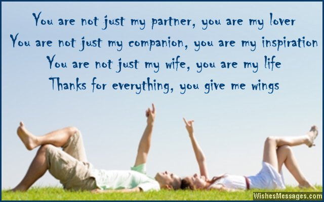 Thank you messages for wife  WishesMessagescom